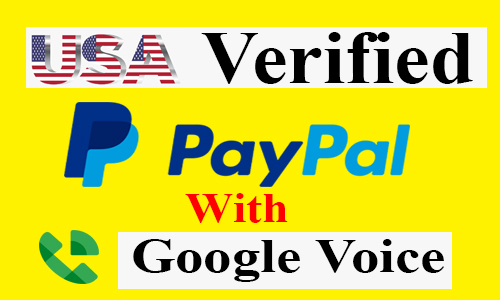 🤑USA VERIFIED PAYPAL WITH GOOGLE VOICE💲