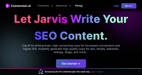 Conversion ai Copywriting Tool By Jarvis