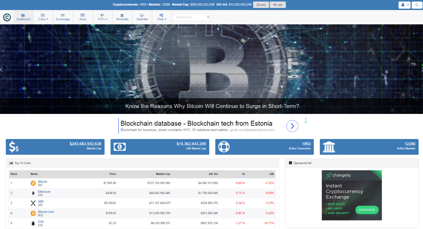 Crypto Currency Tracker v9.5 - Realtime Prices, Charts,