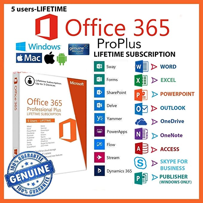 [LIFETIME WARRANTY] Office 365 account 5 device account