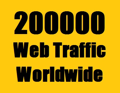 200000 Web Traffic Worldwide from Search Engine