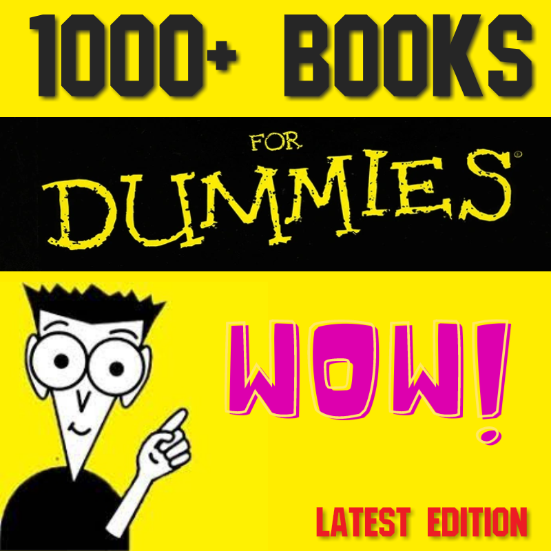 """1000+ """"FOR DUMMIES"""" Books Pack ✅"""