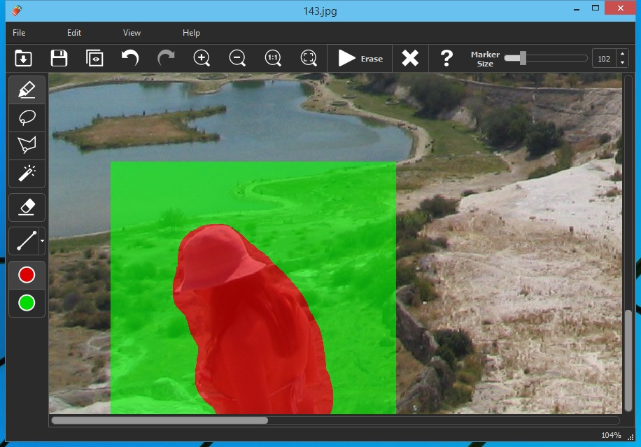 Inpaint remove unwanted objects from photos