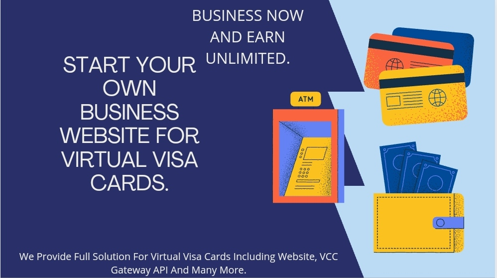 Start Your Own Website For Virtual Visa Card Business.