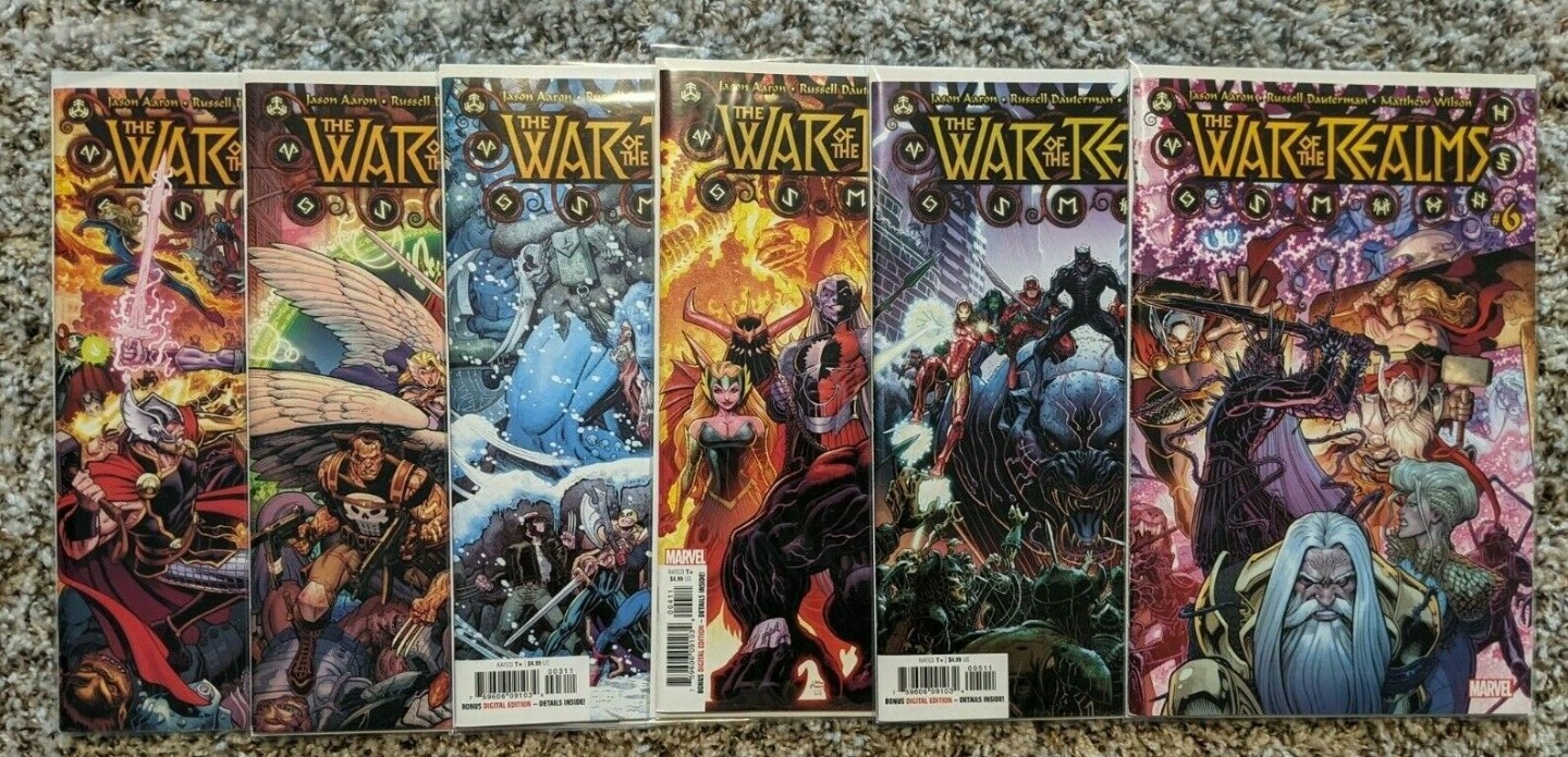 The War of the Realms issues 1 thru 6